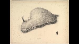 Le dompteur a été mangé 1909 Lithographie tirée à 50 épreuves