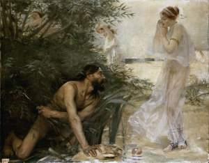 Ulysse et Nausicaa Tableau avec lequel Jean VEBER concourut pour le prix de Rome en 1988