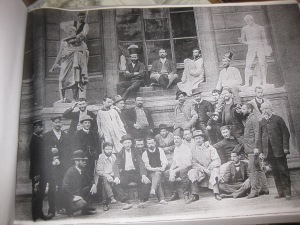 Classe des logistes aux Beaux-Arts 1888 avec Cabanel