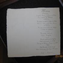 12 Menu du banquet Léandre 1900