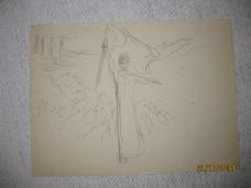 """Projet pour la lithographie """"Aux Armes"""" 1914"""