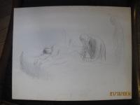Etude pour la lithographie La piqûre 1913 02
