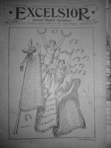 Couverture Excelsior n° 1357 lundi 3 août 1914
