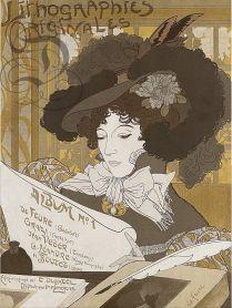 14 Album de lithographies originales n° 1 1900