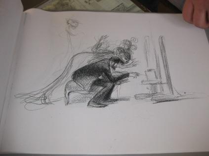 """Etude pour la lithographie """"La Dame inexorable"""" 1907"""