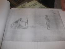 """Etude pour le tableau """"Le Peintre et son Modèle"""""""