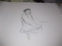 """Dessin préparatoire pour le tableau """"Portrait de Reynaldo HAHN"""""""