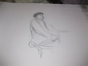 """Etude pour le """"Portrait de Reynaldo HAHN"""""""