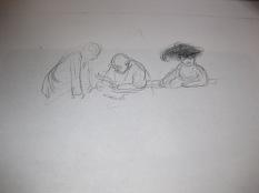 """Etude pour la lithographie """"L'oeillade"""" 1904"""