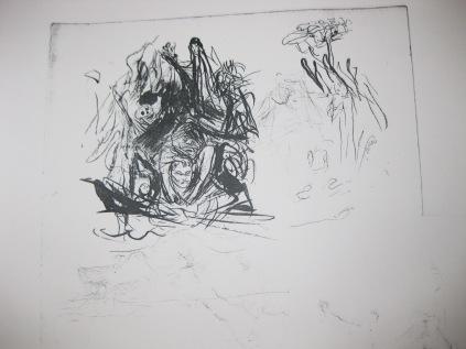 """Etude pour la lithographie """"L'ennui"""" 1896"""