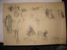 La-promenade à Venise-L' intérieur du Cardinal 1904-dessins preparatoires