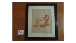 """Dessin préparatoire au tableau """"Le crime passionnel"""" 1904"""