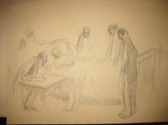 Le testament 1910-dessin préparatoire