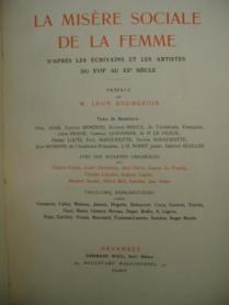 19 La misère sociale de la femme 1910