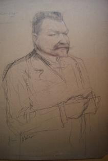 """Etude pour le """"Portrait de Gaston STIEGLER"""" 1900"""