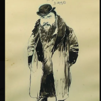 Portrait de Tristan BERNARD Gil-Blas mars 1895