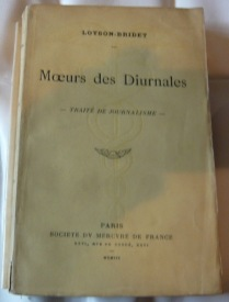 Moeurs des Diurnales 1903