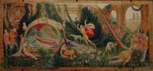 """d'après Jean VEBER """"La belle au bois dormant"""" tapisserie vers 1911"""
